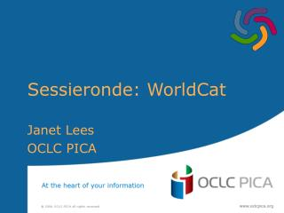 Sessieronde: WorldCat
