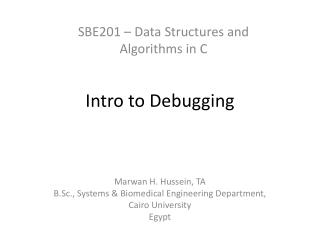 Intro to Debugging