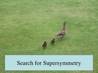 Search for Supersymmetry
