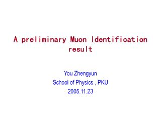 A preliminary Muon Identification result