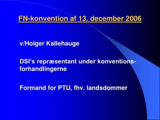 FN-konvention af 13. december 2006