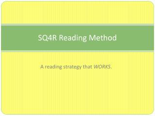 SQ4R Reading Method