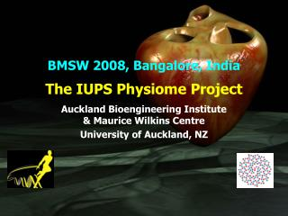 The IUPS Physiome Project Auckland Bioengineering Institute & Maurice Wilkins Centre