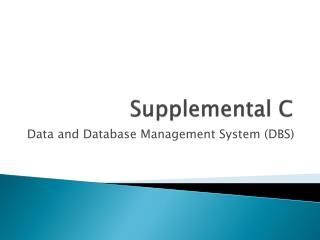 Supplemental C