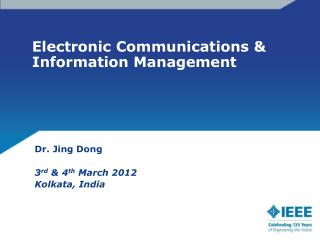 Electronic Communications & Information Management