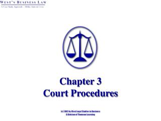 Chapter 3 Court Procedures