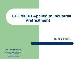 CROMERR Applied to Industrial  Pretreatment