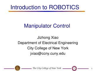 Manipulator Control