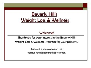 Beverly Hills Weight Loss & Wellness