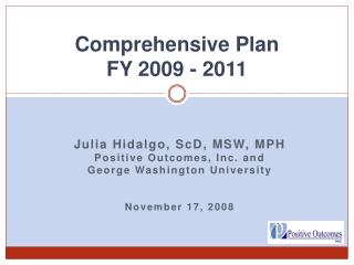 Comprehensive Plan FY 2009 - 2011