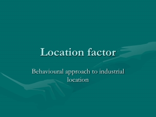Industrial Location Theory