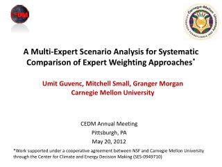 A Multi-Expert Scenario Analysis for Systematic Comparison of Expert Weighting Approaches *