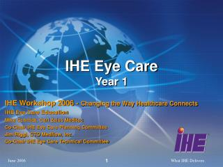 IHE Eye Care Year 1