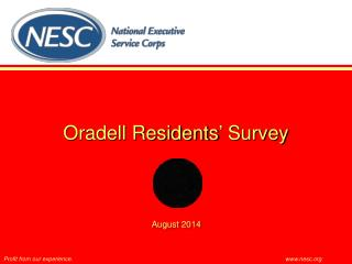 Oradell Residents' Survey