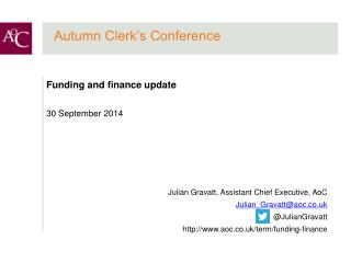 Autumn Clerk's Conference