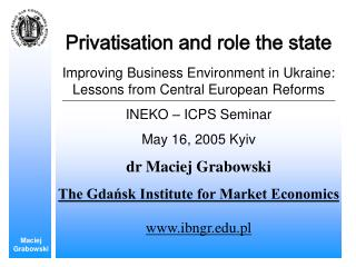 Privatisation and role the state