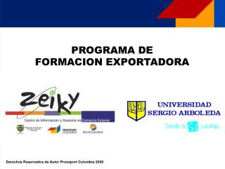PROGRAMA DE  FORMACION EXPORTADORA
