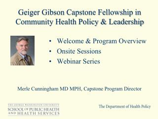 Geiger Gibson Capstone Fellowship in Community Health Policy & Leadership