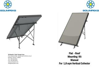 Flat -  Roof Mounting Kit  Manual For 1,8  sqm Vertical Collector