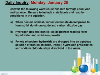Daily Inquiry : Monday, January 28