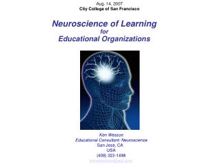 Neuroscience of Learning  for Educational Organizations