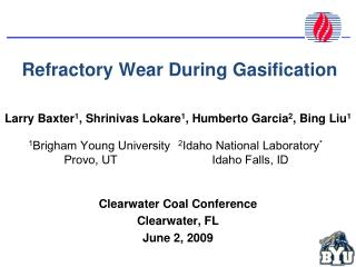 Refractory Wear During Gasification