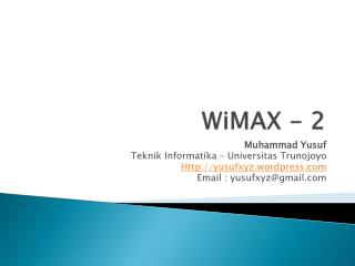 WiMAX - 2