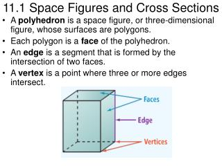 11.1 Space Figures and Cross Sections