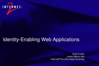 Identity-Enabling Web Applications