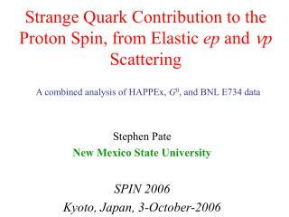Strange Quark Contribution to the Proton Spin, from Elastic  ep  and  n p  Scattering