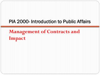 PIA PIA  2000- Introduction to Public Affairs