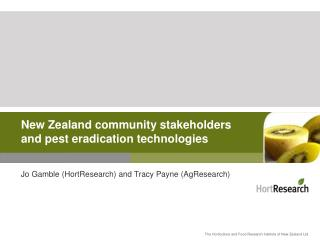 New Zealand community stakeholders and pest eradication technologies
