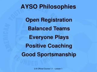 Open Registration Balanced Teams Everyone Plays Positive Coaching Good Sportsmanship