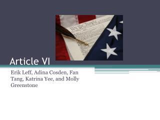 Article VI