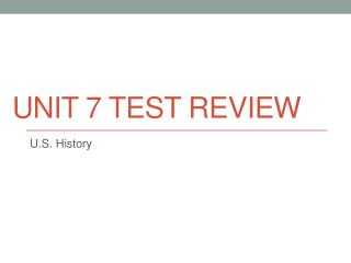 Unit 7 Test Review