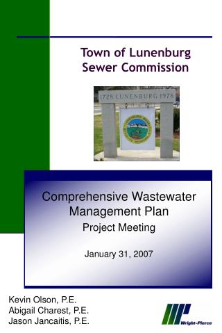 Town of Lunenburg Sewer Commission