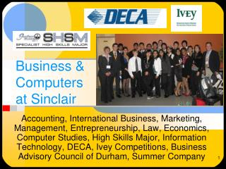 Business &  Computers at Sinclair