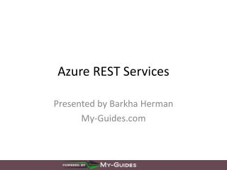 Azure  REST Services