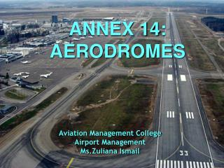 Aviation Management College Airport Management  Ms.Zuliana Ismail
