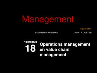 Operations management en value chain management