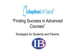 """Finding Success in Advanced Courses"""