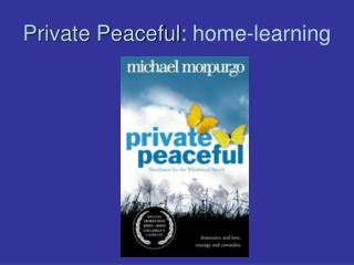 Private Peaceful : home-learning