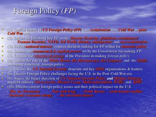 Foreign Policy  (FP)