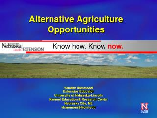 Alternative Agriculture Opportunities