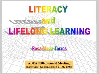 LITERACY  and  LIFELONG LEARNING