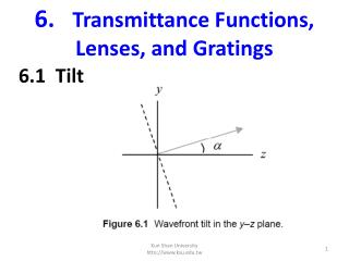 6. Transmittance Functions, Lenses, and Gratings