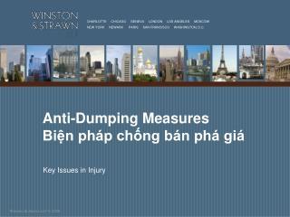 Anti-Dumping Measures Biện pháp chống bán phá giá