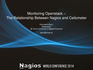 Monitoring Openstack –  The Relationship Between Nagios and Ceilometer