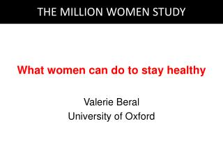 What women can do to stay healthy