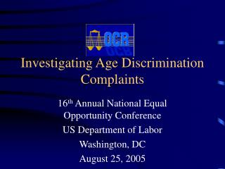 Investigating Age Discrimination Complaints